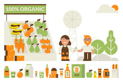 Organic market concept Stock Photography