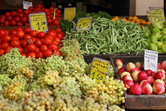 Organic market stall royalty free stock images