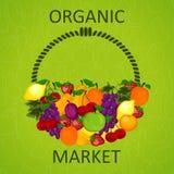 Organic market vector illustration . Royalty Free Stock Photos