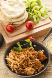 Organic Mexican Shredded Beef for tacos Stock Photo
