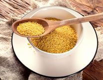Organic millet seeds Stock Photo