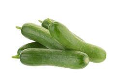 Organic Mini Baby Cucumbers isolated on white background Stock Image