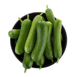 Organic Mini Baby Cucumbers isolated on white background Royalty Free Stock Photos