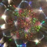 Iridescent kaleidoscope pattern stock photo