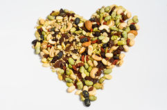 Organic mixed nuts Royalty Free Stock Images