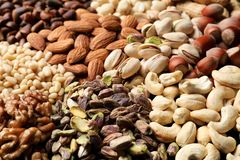 Free Organic Mixed Nuts As Background, Closeup. Stock Photos - 138319433