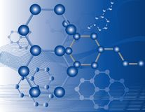 Organic Molecules Royalty Free Stock Photo