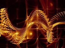 Organic Molecules Background Stock Image