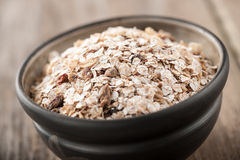 Organic muesli in a bowl Stock Photography