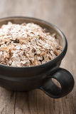 Organic muesli in a bowl Stock Image