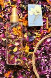 Organic, natural deodorant with flowers Royalty Free Stock Image