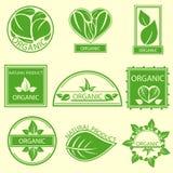 Organic natural emblems products, labels, logo Stock Image
