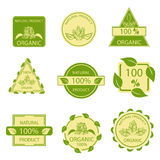 Organic natural emblems products, labels, mark Stock Photos