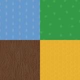 Organic natural embossed seamless patterns Stock Photo