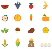 Organic natural food icon  Stock Photography