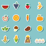 Organic natural food icon vector Royalty Free Stock Photo