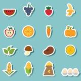 Organic natural food icon vector Royalty Free Stock Photo