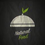 Organic natural food label Royalty Free Stock Photo
