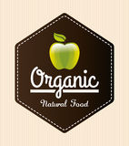 Organic natural food label Royalty Free Stock Image