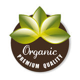 Organic natural food label Royalty Free Stock Images