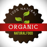 Organic natural food label Royalty Free Stock Photography