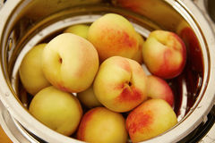 Organic natural fruit peach juicy delicious summer Royalty Free Stock Images