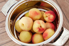 Organic natural fruit peach juicy delicious summer Royalty Free Stock Photography
