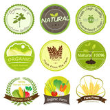 Organic and Natural Labels Stock Image