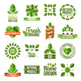 Organic And Natural Labels Set Royalty Free Stock Image