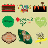 Organic and natural labels set Stock Photography