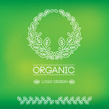 Organic natural logos Stock Images