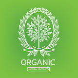 Organic natural logos Royalty Free Stock Images
