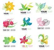 Organic natural logos Stock Photos