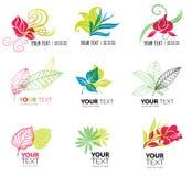 Organic natural logos Royalty Free Stock Photo