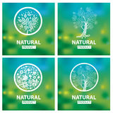 Organic natural logos Royalty Free Stock Photo
