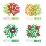 Organic natural logos Stock Photography