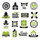 Organic Natural Product Label Set Royalty Free Stock Image