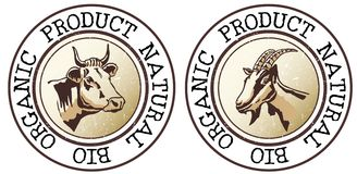 Organic and natural product  symbol Royalty Free Stock Photography