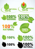 Organic and natural symbol. Organic and natural rubber stamp Royalty Free Stock Images