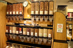 Organic nuts. Huge selection of organic teas in bulk Royalty Free Stock Photography