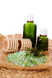 Organic Oil and Body Care Stock Photography
