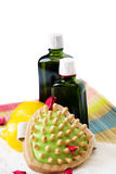 Organic Oils and Body Care Stock Image