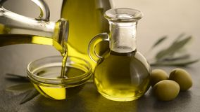 Organic olive oil. stock video footage