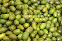 Organic olives. A lot of Organic green olives Stock Images