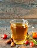 Organic orange apple cider with cinnamon and anise Stock Photos