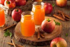 Organic Orange Apple Cider stock images