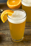 Organic Orange Citrus Craft Beer Royalty Free Stock Photos