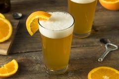 Organic Orange Citrus Craft Beer Royalty Free Stock Images