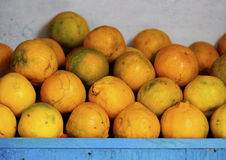 Organic oranges Stock Images