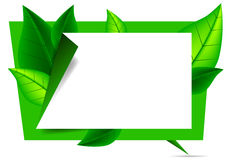 Organic origami banner. The organic origami banner, vector art illustration Royalty Free Stock Image